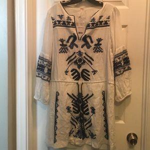 BRAND NEW FP IVORY COMB DRESS!!
